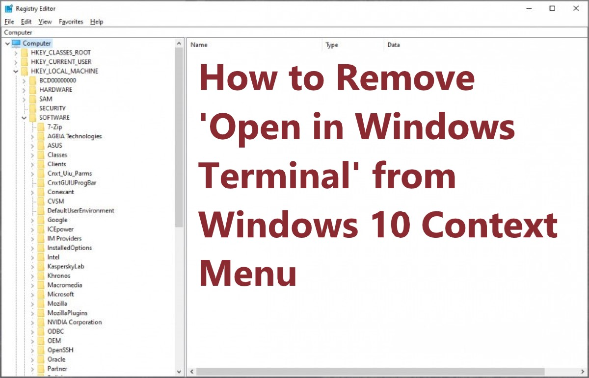 How to Remove 'Open in Windows Terminal' from Windows 10 Context Menu